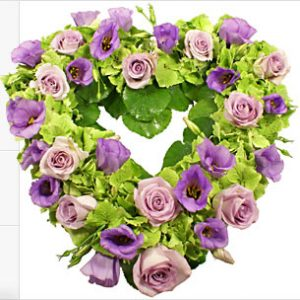 Open Heart Floral Wreath