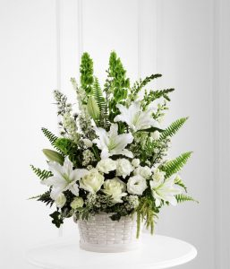 elegant sympathy flower arrangement